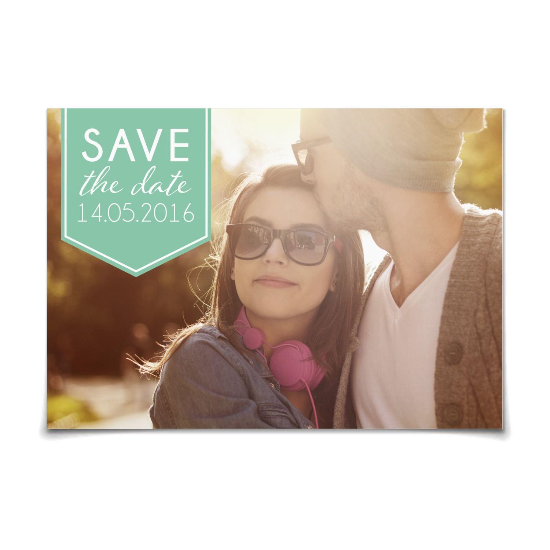 Save The Date Wir Trauen Uns In Karibik Postkarte Flach Hochzeit