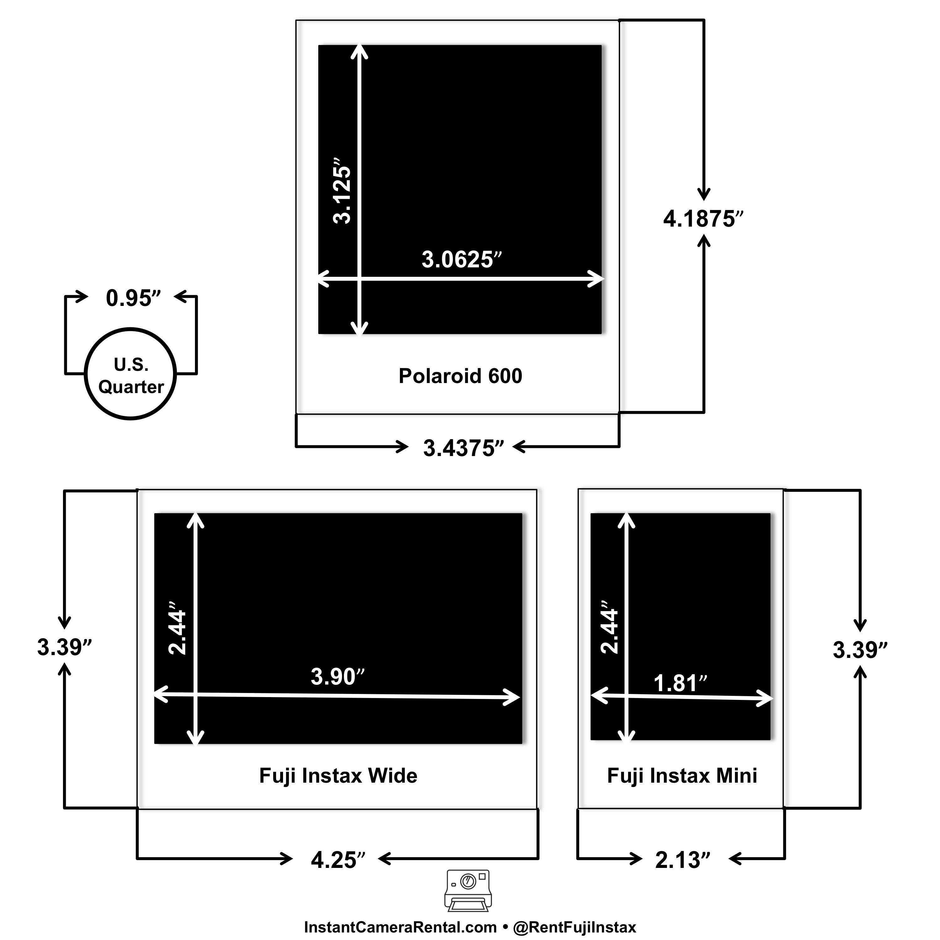 Fuji Instax Photo Size Mini Vs Wide Vs Polaroid Visit