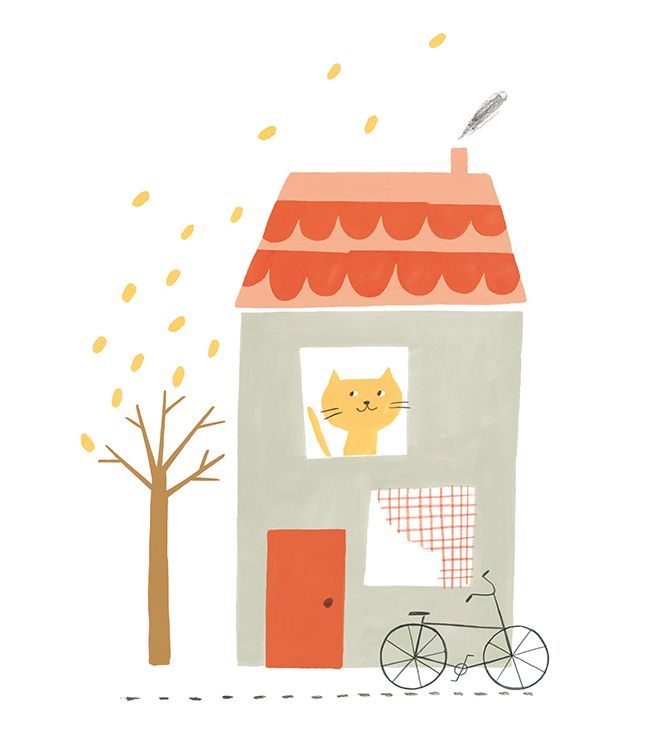 I was happy to take part in the '100 Cats' exhibition at A-side B-Side  gallery in London. The exhibition featured 100 feline themed artworks and  was curated by the lovely illustrator Laura Hughes.  Here are my autumn inspired pieces.  Unfortunately, I couldn't visit the exhibition, as I'm in Russia, but I can  share some photos taken by Laura Hughes and Emma Block.