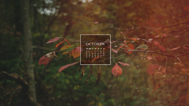 Free October 2014 Calendar Wallpaper