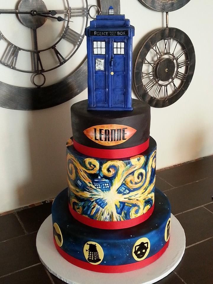 Peachy Hand Painted Doctor Who Cake Doctor Who Cakes Dr Who Cake Funny Birthday Cards Online Elaedamsfinfo