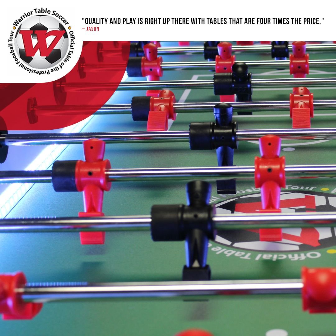 Thanks Jason One Of Our Goals Is To Make High Quality Tables For An Affordable Cost Glad You Love Warrior Table Soccer Soccer Table Foosball Foosball Table