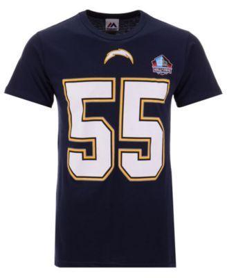 Majestic Men s Junior Seau San Diego Chargers Hall of Fame Eligible  Receiver Triple Peak T-Shirt - Blue XXL 7e218ef1e