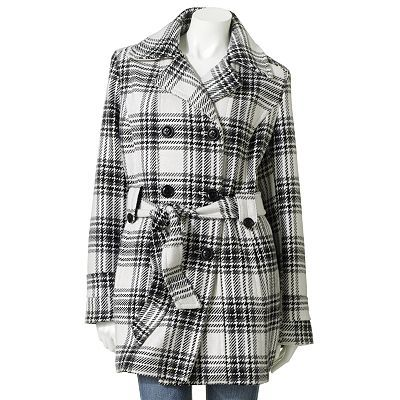 Croft and Barrow Plaid Wool Peacoat-kohls