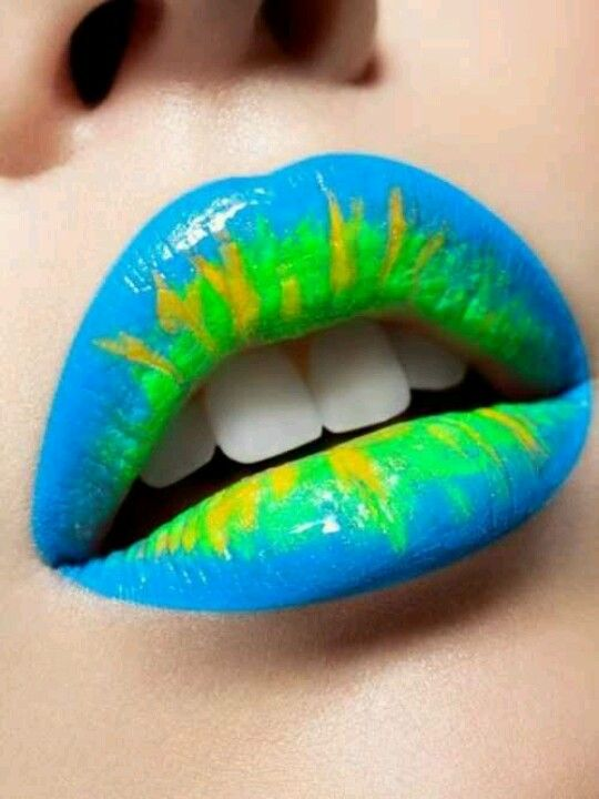 Baby Blue, Lime Green, & Yellow Lips