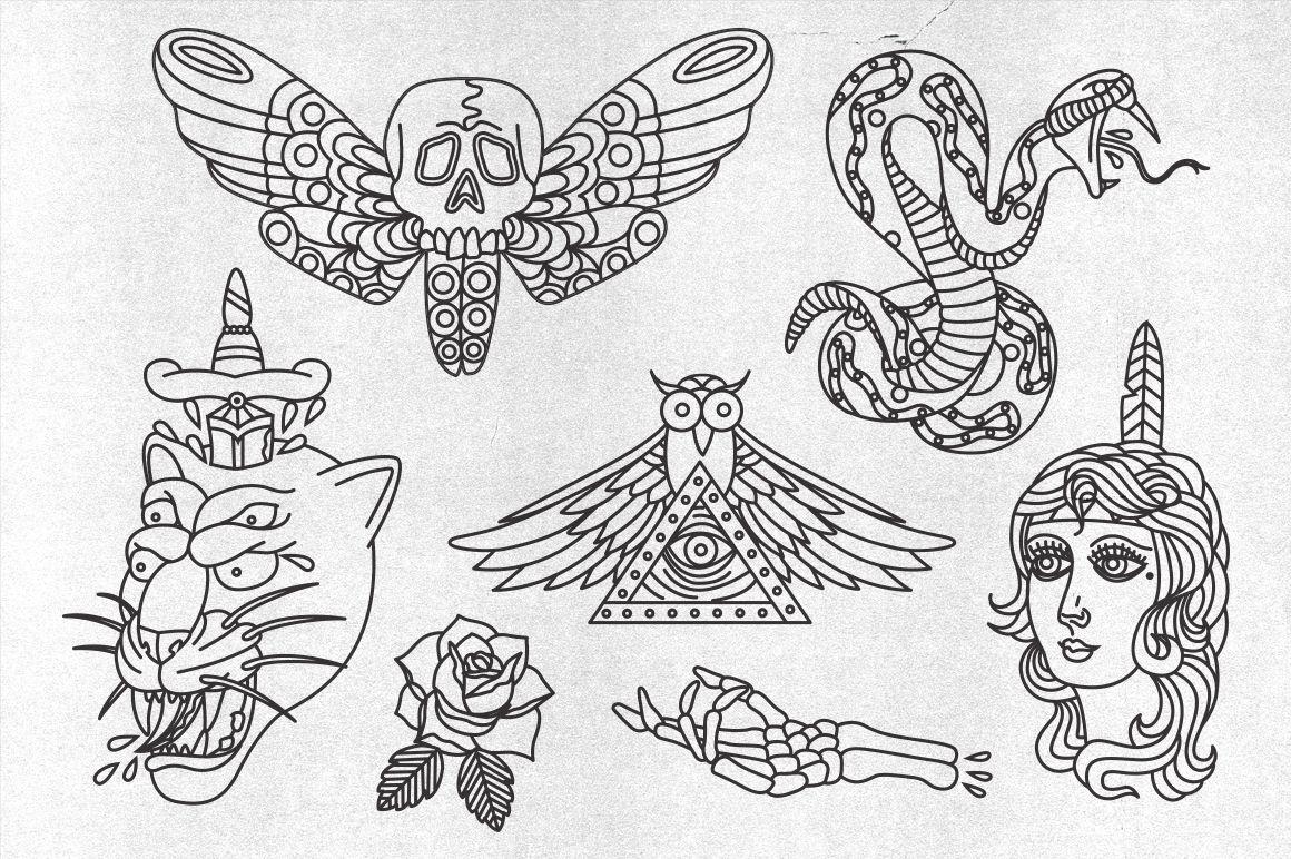 Vector Hipster Tattoos Tattoos, Hipster