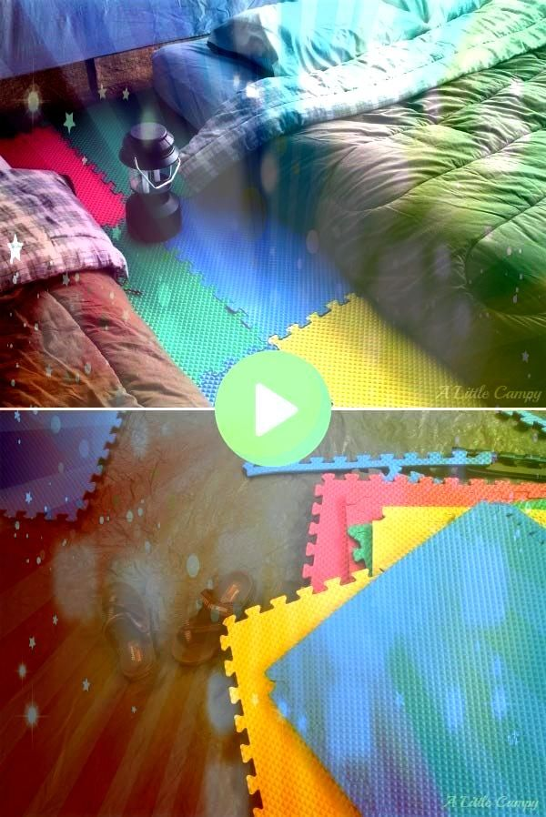 floor tiles can be used for a cozy tent floor Foam floor tiles can be used for a cozy tent floor  5 Soda Can Hacks For Camping  This would be a good time saverMint Tin St...