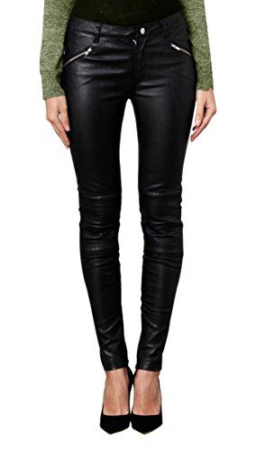 Leatherfads Womens Slimfit Soft Lambskin Leather Pants