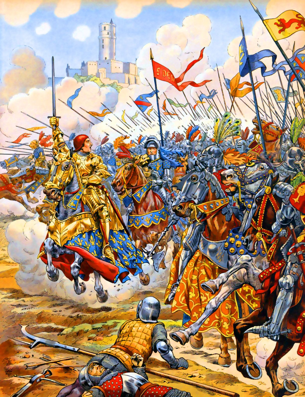 Charge Of The French Knights At Patay Hundred Years War