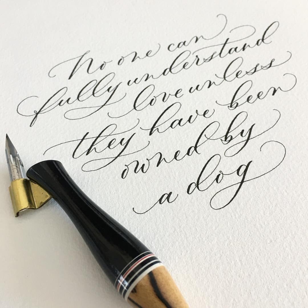 Calligraphy Hannele Dejong Elisabethavenue On Instagram