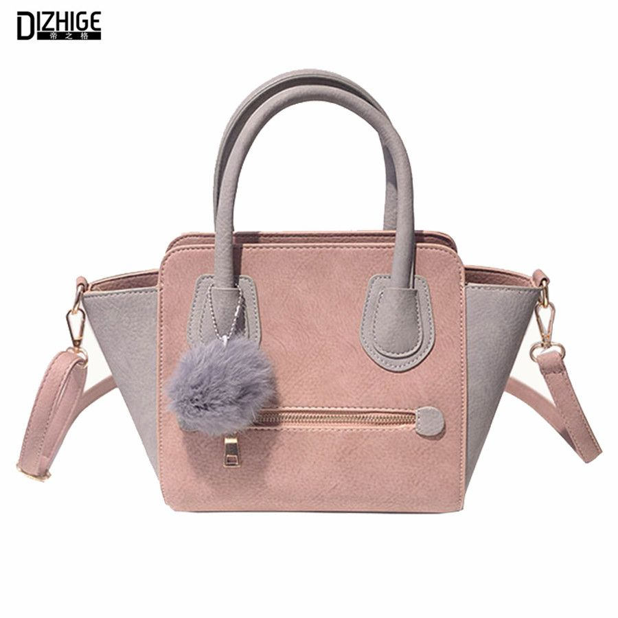 2016 Spring Smiley PU Leather Tote Bag Women Trapeze Fashion ...