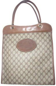 cd53007281dd Gucci Mint Vintage Rare Early High-end Bohemian Supreme Or Shopper Tote in  brown large