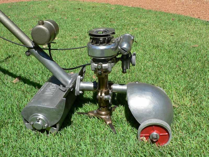Lawn Tractor Dozer Tracks Conversion : Antique mower click on image to enlarge quot