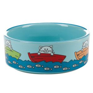 Whisker City Fishing Cat Bowl Cat Bowls Cat Food Bowl Super Cat