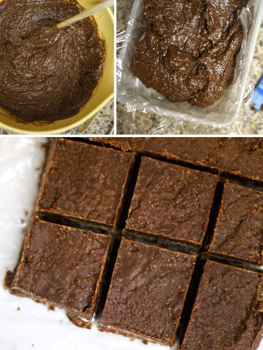 Easy Raw Fudge - 1c raw cashew butter (or nut butter of choice), 1/3c coconut oil, 1/4c cocoa powder, 1/4c pure maple syrup, 1/2t fine sea salt, 1t vanilla extract