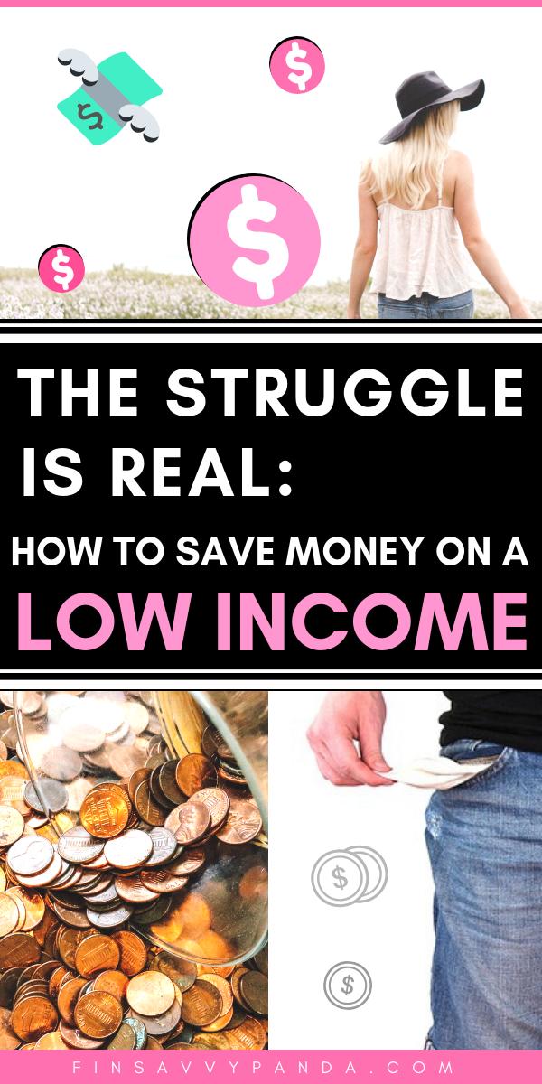 So sparen Sie Geld mit geringem Einkommen: Der Kampf ist real
