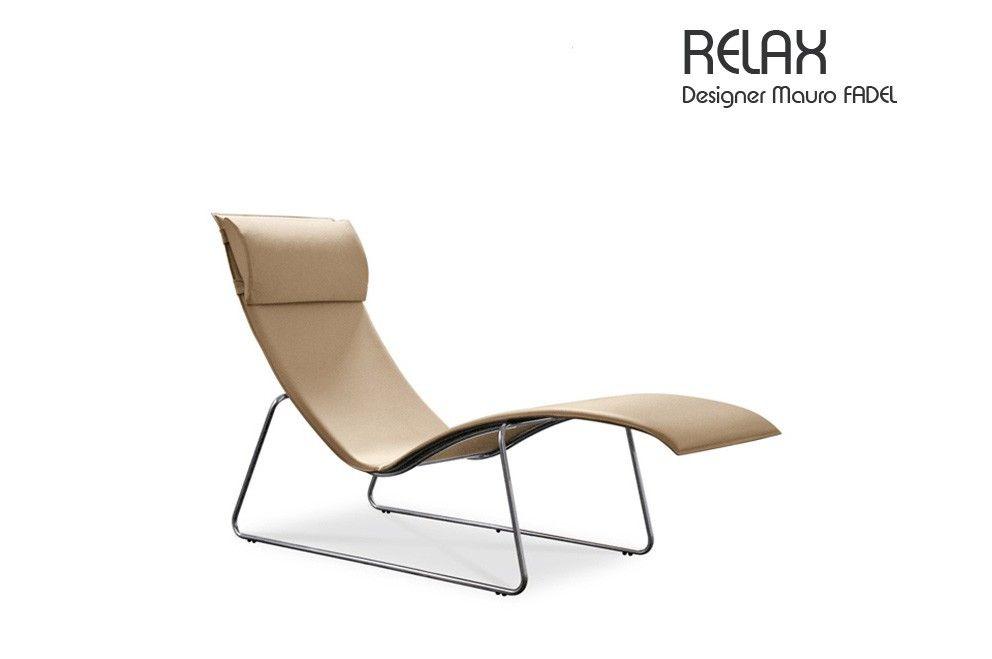 Fauteuil RELAX Cuir Design Mauro FADEL MyDecoMyDesign