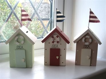 Shrimps  Tiddlers Interiors. nautical beach hut money box