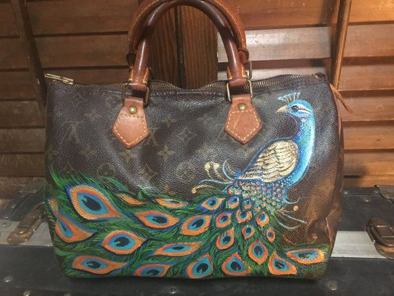 5c914e353039 Vintage hand painted Louis Vuitton peacock by TalkingSnake27