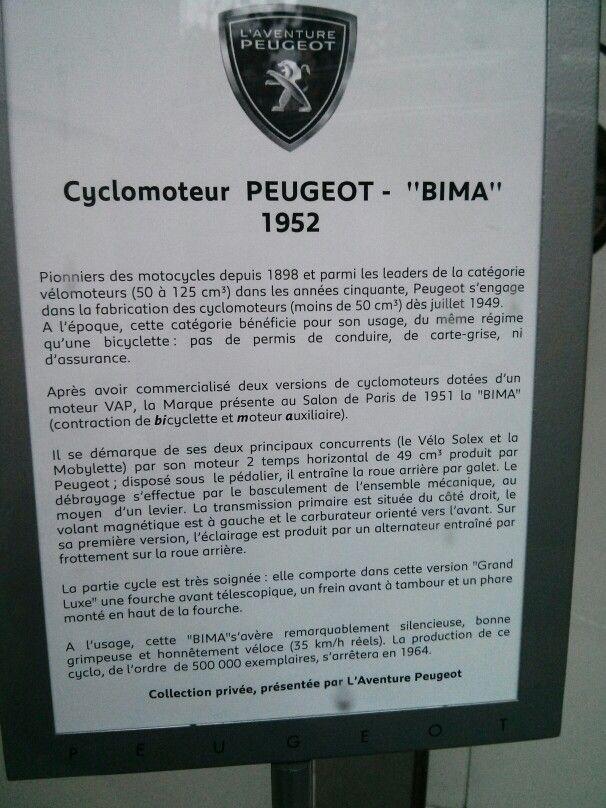 Cyclomoteur Peugeot Bima 1952 Peugeot