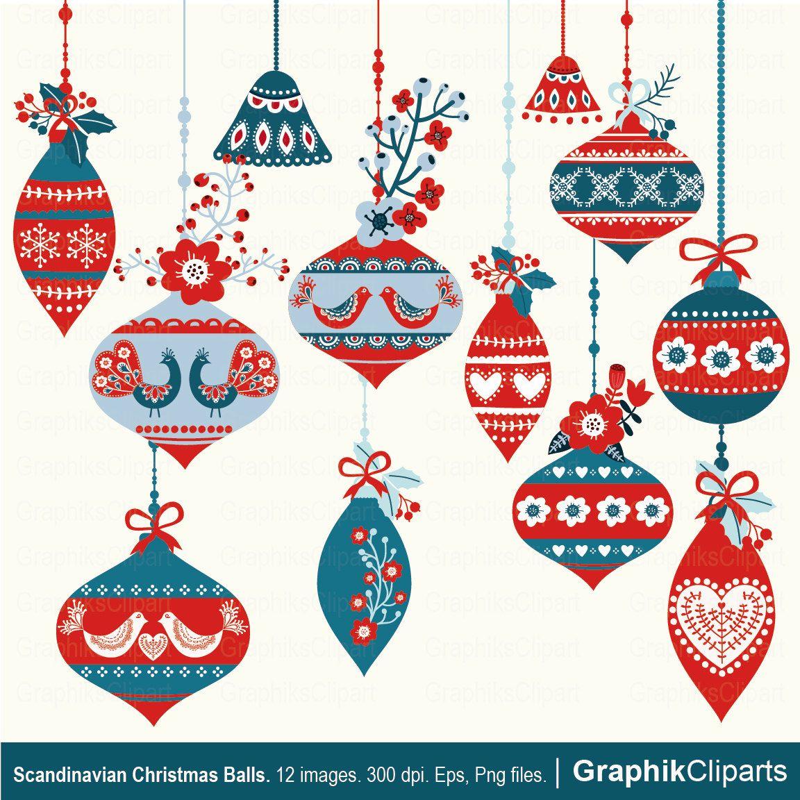 Scandinavian Christmas Ornaments Part - 20: Scandinavian Christmas Balls. Vector Christmas Balls. Scandinavian Christmas.  12 Images, 300 Dpi