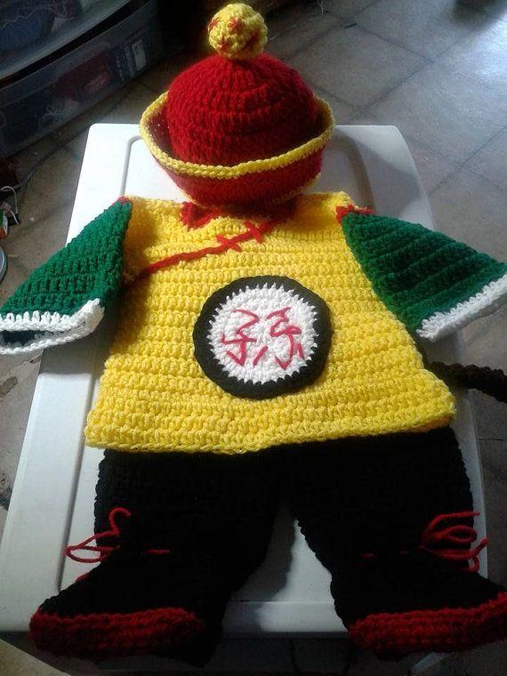 Crochet baby Gohan costume. Gohan costume by DustysCrochetProps  975a07e8967