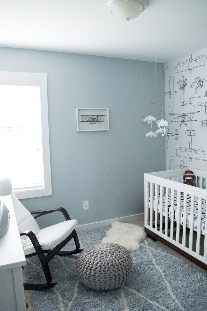 Baby Benjamin S Airplane Nursery With Images Baby Boy Room