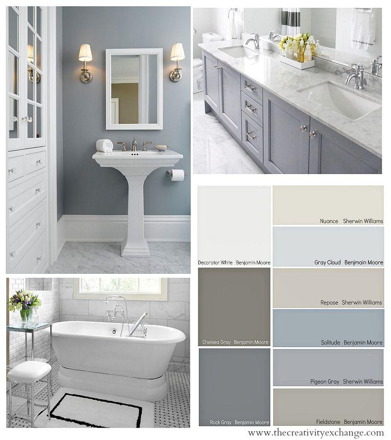 Choosing Bathroom Paint Colors For Walls And Cabinets Bathroom Paint Colors Bathroom Colors Painting Bathroom