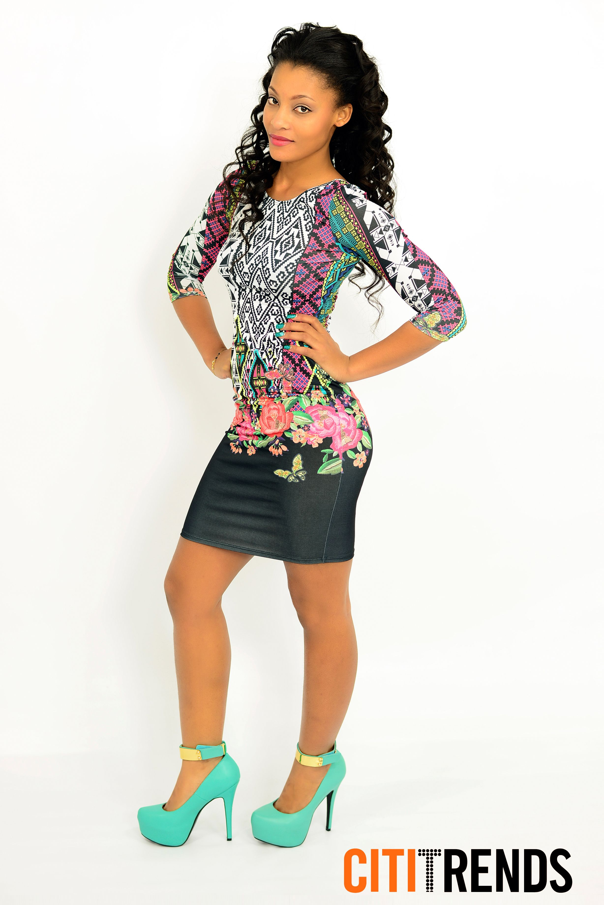 quot fits like a glove quot in a floral midi dress at