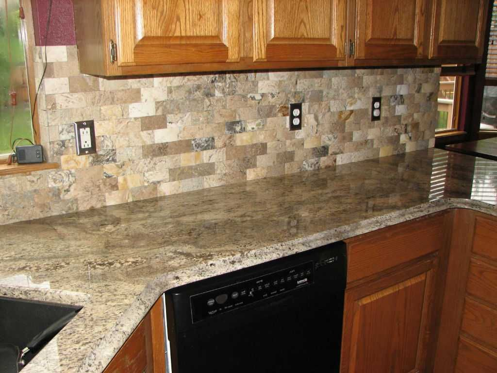 Pictures Of Granite Kitchen Countertops And Backsplashes Knives Best For Oak Cabinets 2018