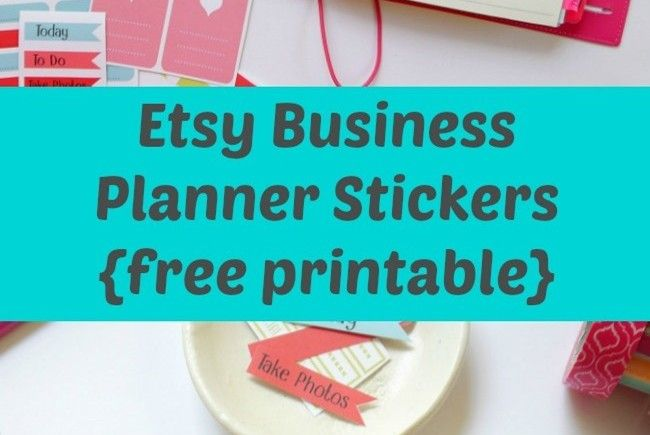 Etsy business planner stickers free printable