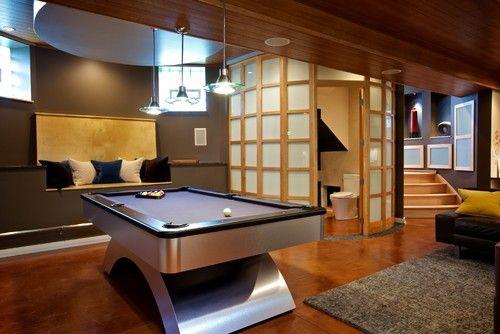 Schwarz Basement Remodel - modern - basement - chicago - by Gina Bon, Airoom Architects & Builders LLC
