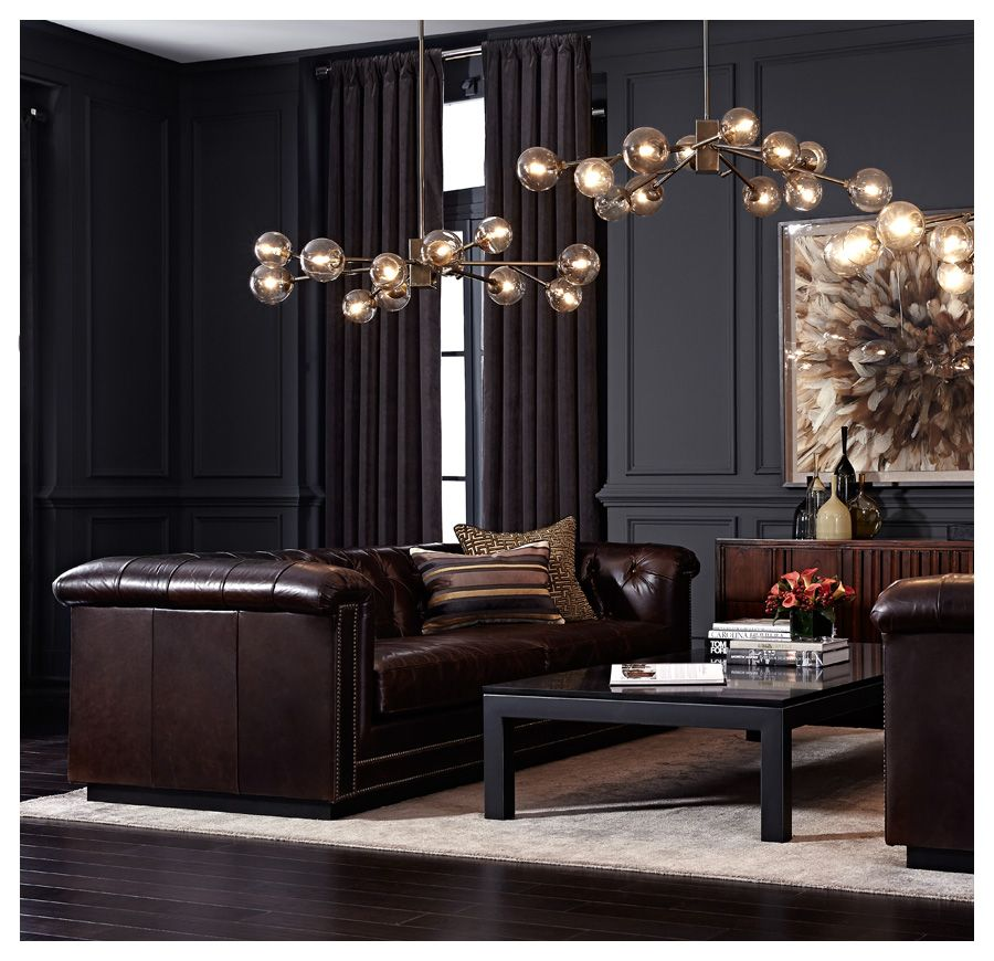 """Apartment Decor Stores: BARRYMORE 94"""" LEATHER SOFA [available Online And In Stores"""