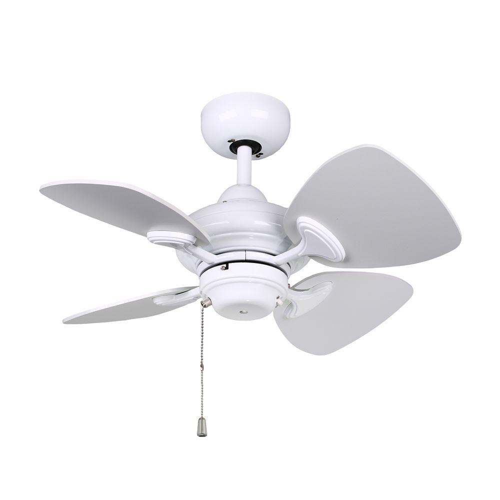 Designers Choice Collection Aires 24 in. White Ceiling Fan   White ...