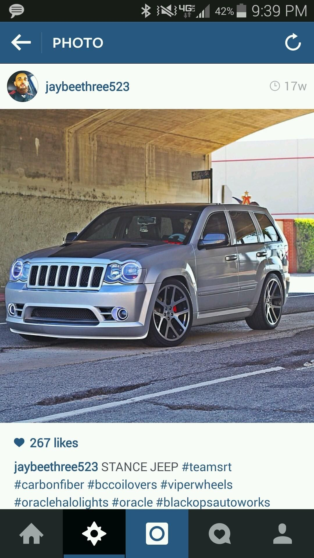 Srt8 Jeep With 22 Viper Wheels Jeep Srt8 Jeep Cherokee Sport