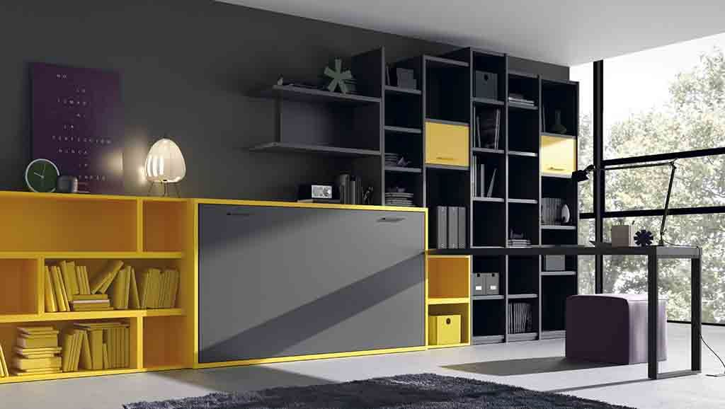 Estanter a con laterales de madera y puertas estanter as - Estanterias para dormitorios ...
