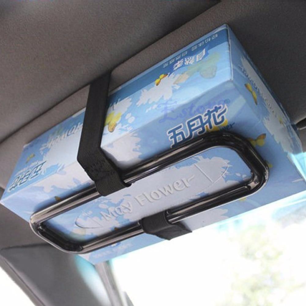 Car Sun Visor Tissue Paper Box Holder Auto Seat Back