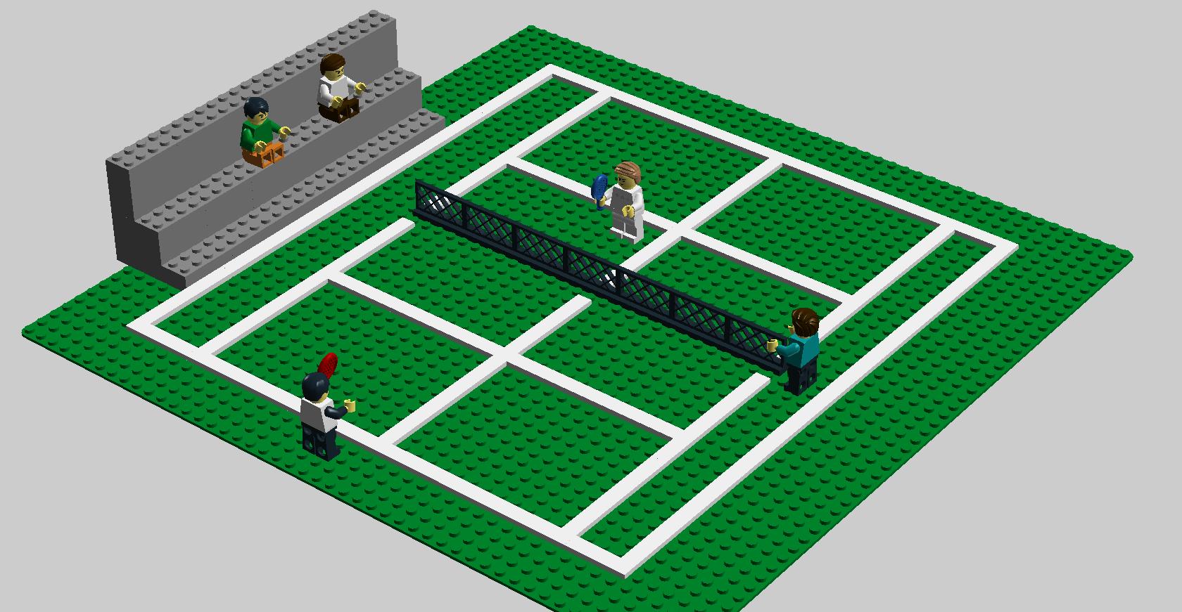 Grass Tennis Court Legos Lego Lego Building