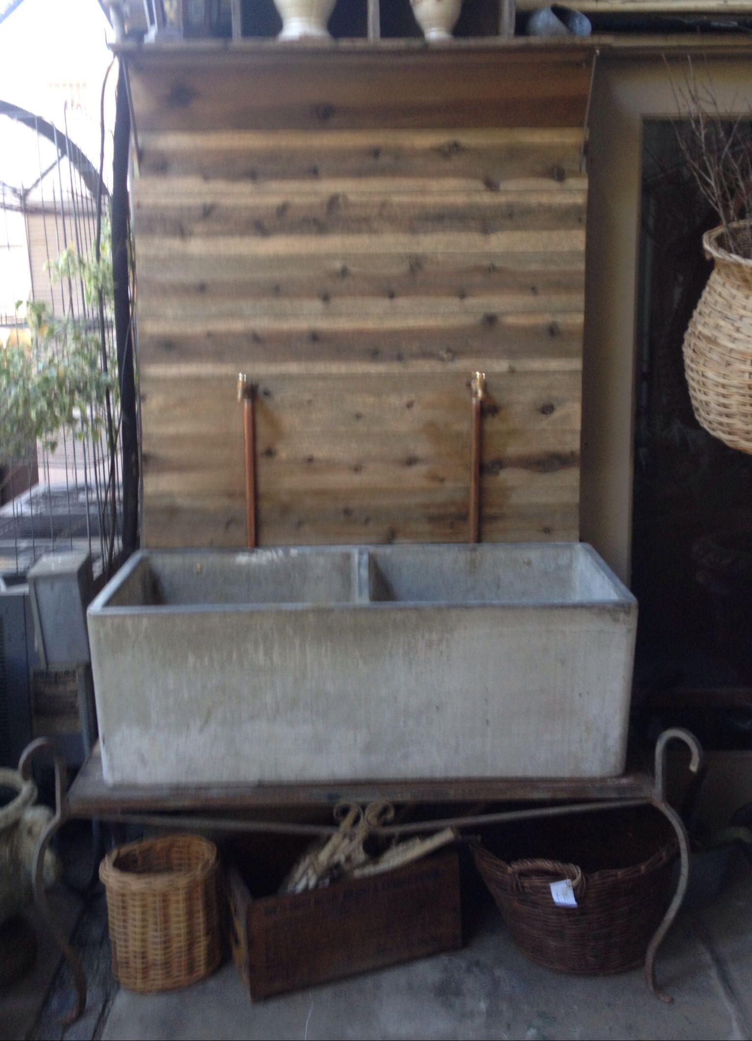 Cement Garden Sink With Spigot Faucets In 2019 Garden