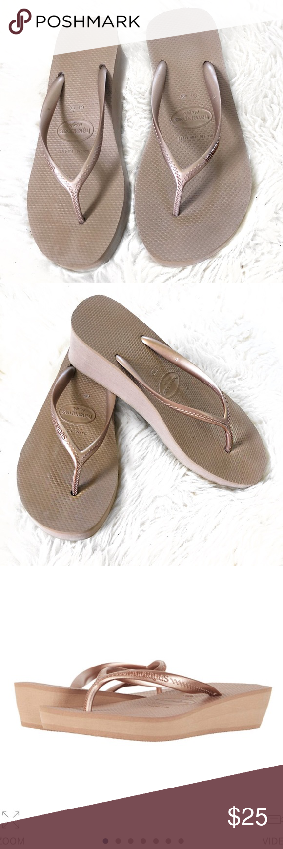 be563ab559d1 HAVAIANAS High Thong Sandals in Bronze Size 7   8 Havaianas High Thong  Sandals No visible
