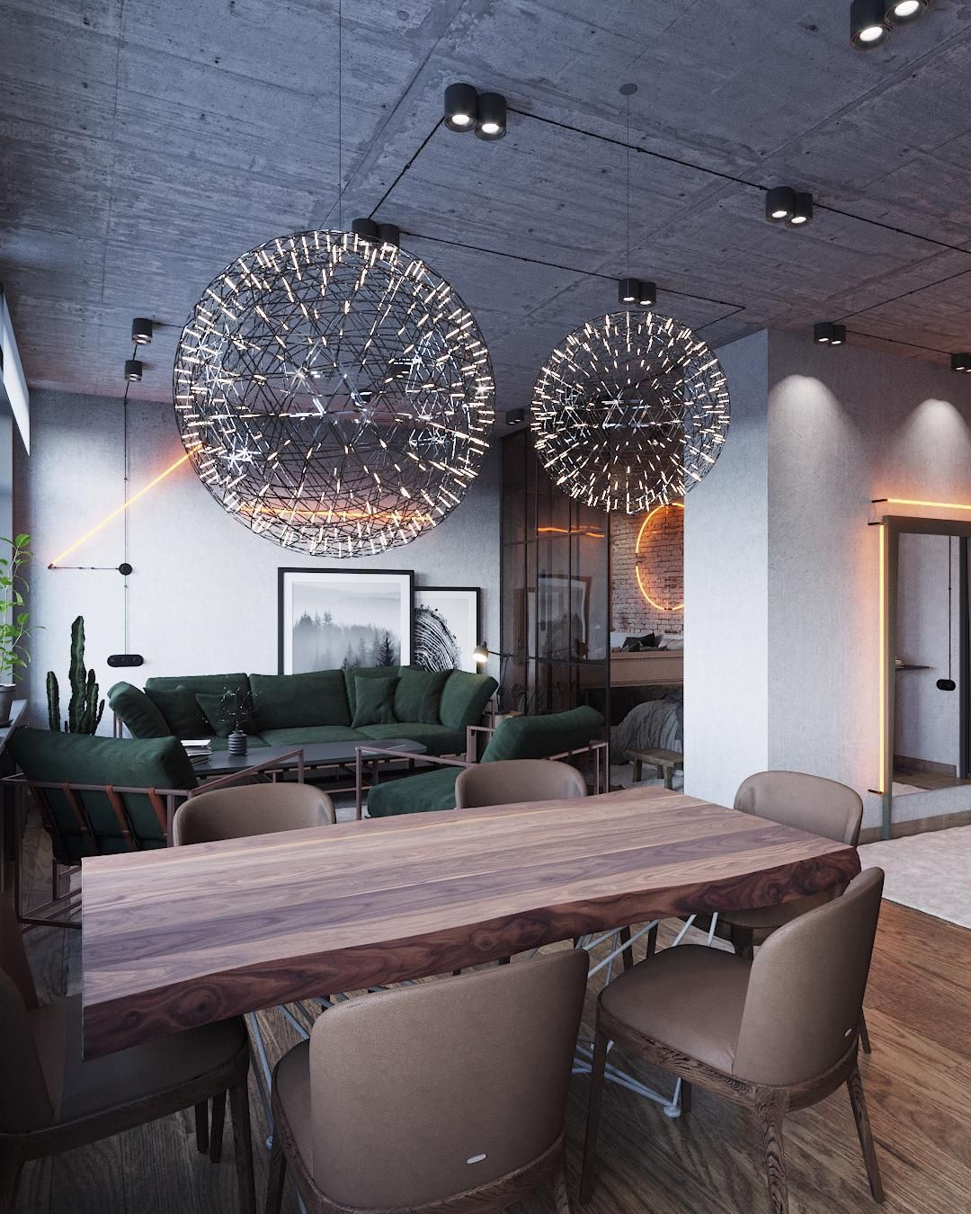 Дизайн квартиры в стиле лофт, 29 м² - студия Mossebo