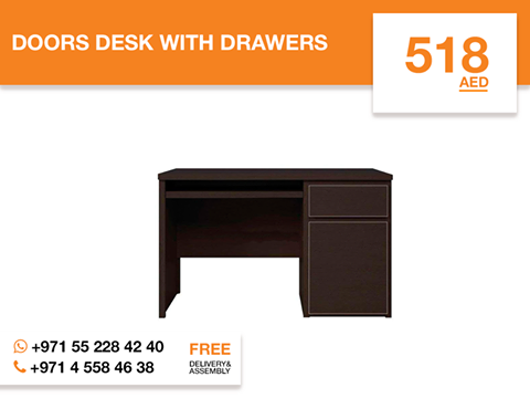 Featuring a wenge oak finish this modern Doors desk with drawers creates ample storage space and provides a broad work surface in Your Home office. This stylish and functional made from high-quality chipboard desk contains two drawers for multiple uses, allowing You to keep Your work surface clean and uncluttered while a large desktop surface provides plenty of room for all Your hardware and working needs. More details: http://gtfshop.com/doors-desk-with-drawers