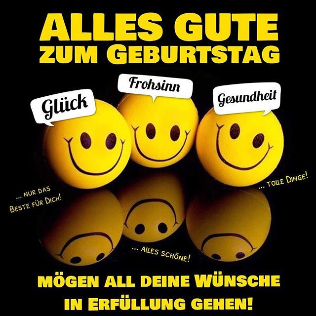 Birthday Happybirthday Smile Smiley Geburtstag Gluckwunsch