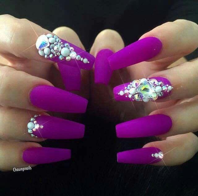 Magenta | Nails | Pinterest | Nail nail, Nail inspo and Coffin nails