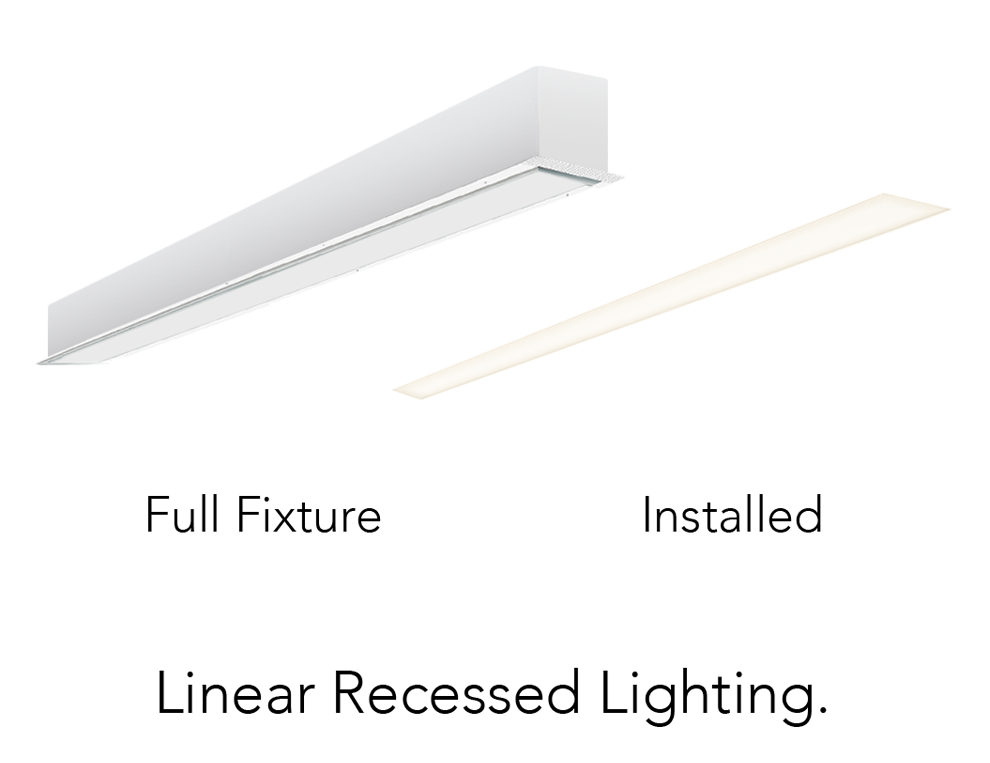 Alcon Lighting 14008 4 Planor Series Architectural Led 4 Foot Linear Recessed Mount Ceiling Light Fixture Alconligh Recessed Lighting Light Fixtures Fixtures