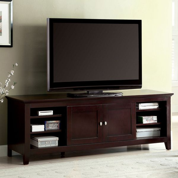Furniture Of America Harmos Transitional 72 Inch Dark Cherry TV Stand
