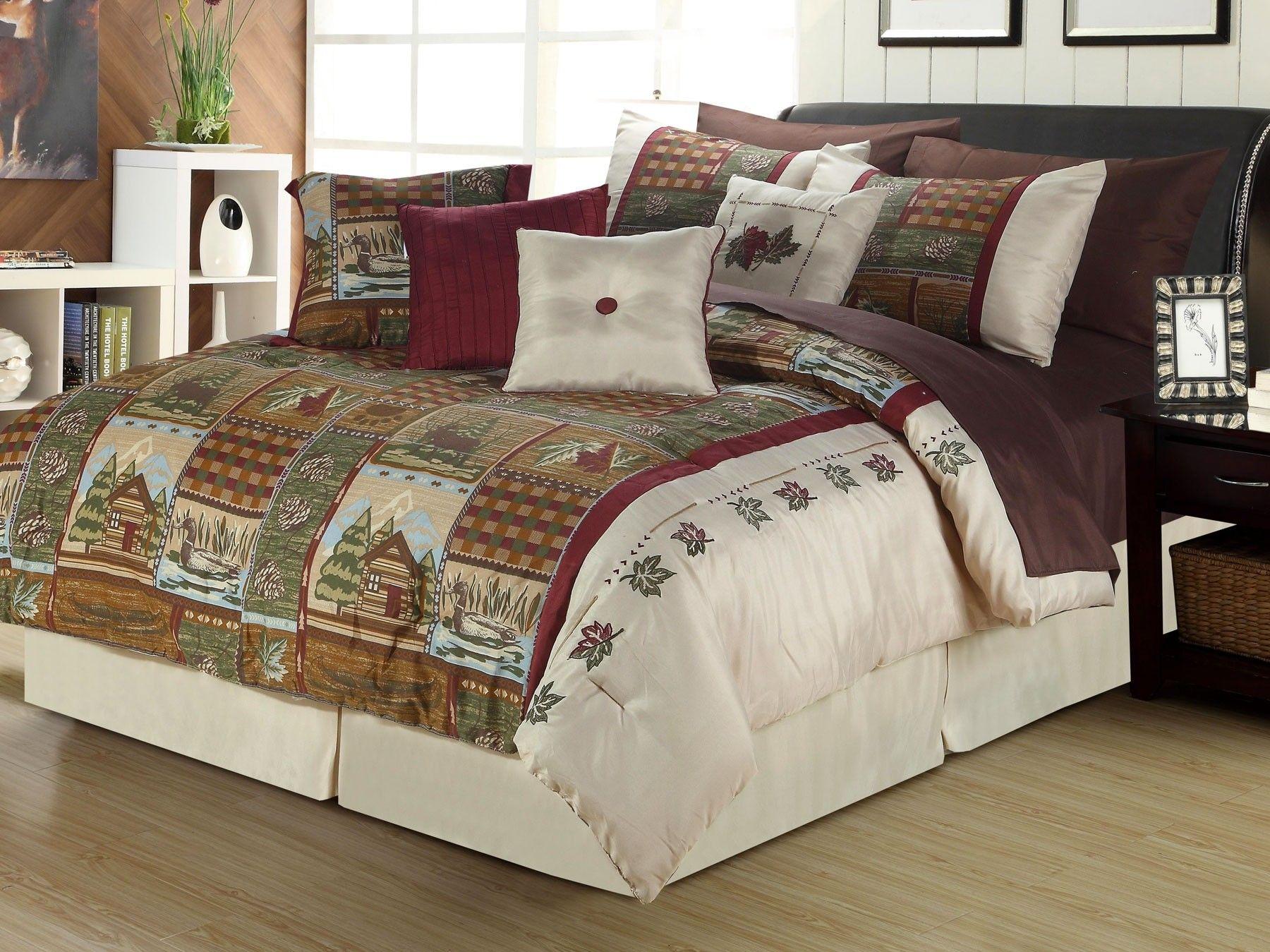 cabin cabins blanket calking comforters approach set size comf comforter california king bedding duck