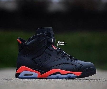 "3e2a83daf646 ... Air Jordan 6 ""Matte Black Infrared"" (Rano Customs) ..."