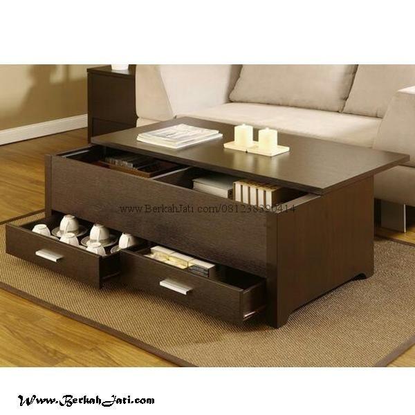 Meja Ruang Tamu Minimalis Laci Desain Mebel