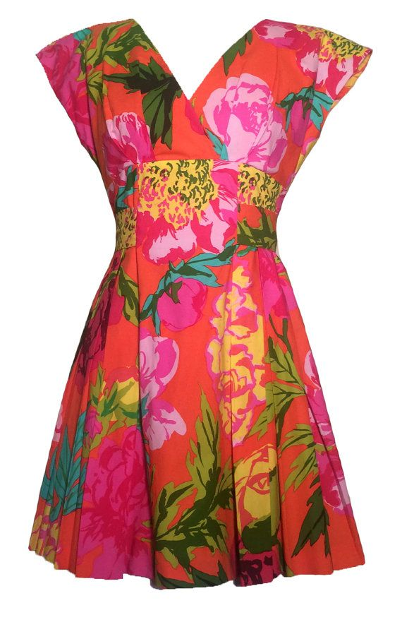9f50fdf3e95 VTG 90s Moschino Couture Pink Floral Dress XS S 40 by HauteHeaven ...